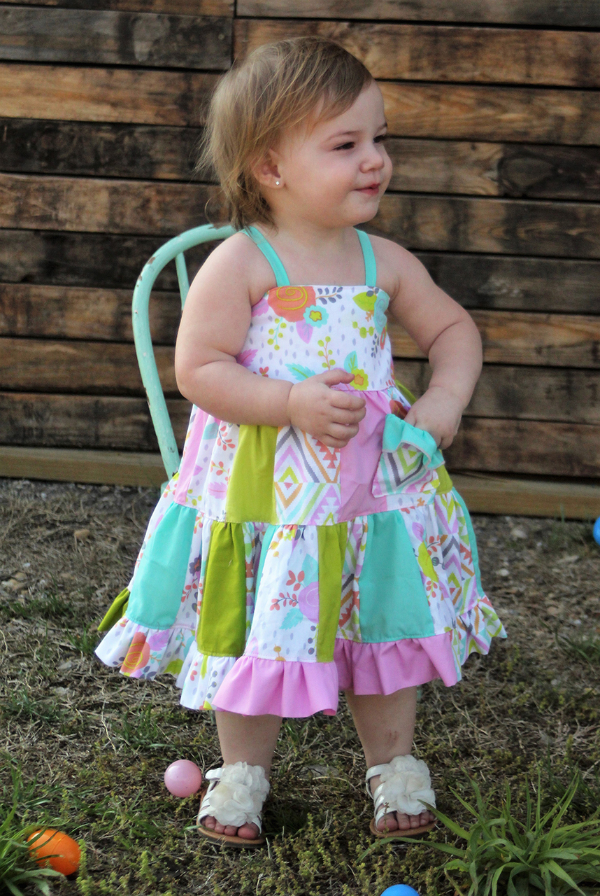 Fawn's Patchwork Dress Sizes NB to 14 Kids PDF Pattern