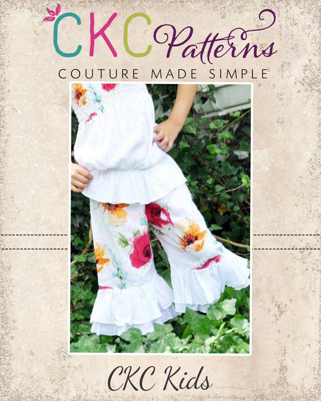 Nicolette's Double Ruffle Pants and Capris PDF Pattern