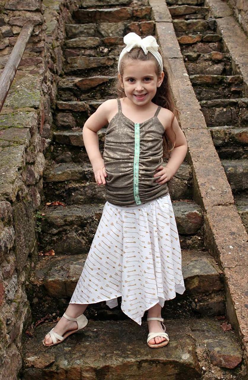 Josephina's Hanky Hem Skirt Sizes 2T to 14 Kids PDF Pattern