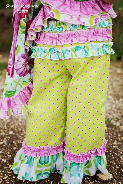 Olivia's Ruffle Butt Pants and Capris Sizes NB to 8 Kids and Dolls PDF Pattern