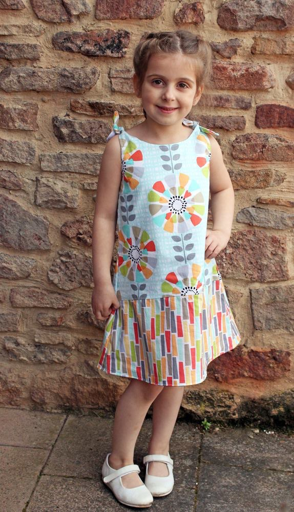 Martha's Tie-Shoulder Top and Dress Sizes NB to 14 Kids and Dolls PDF Pattern