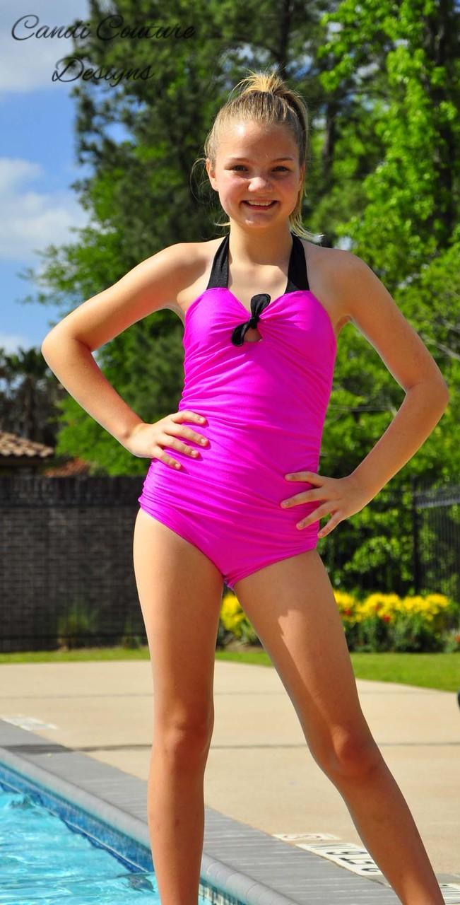 Freya's Retro One-Piece Swimsuit Sizes NB to 14 Kids and Dolls PDF Pattern