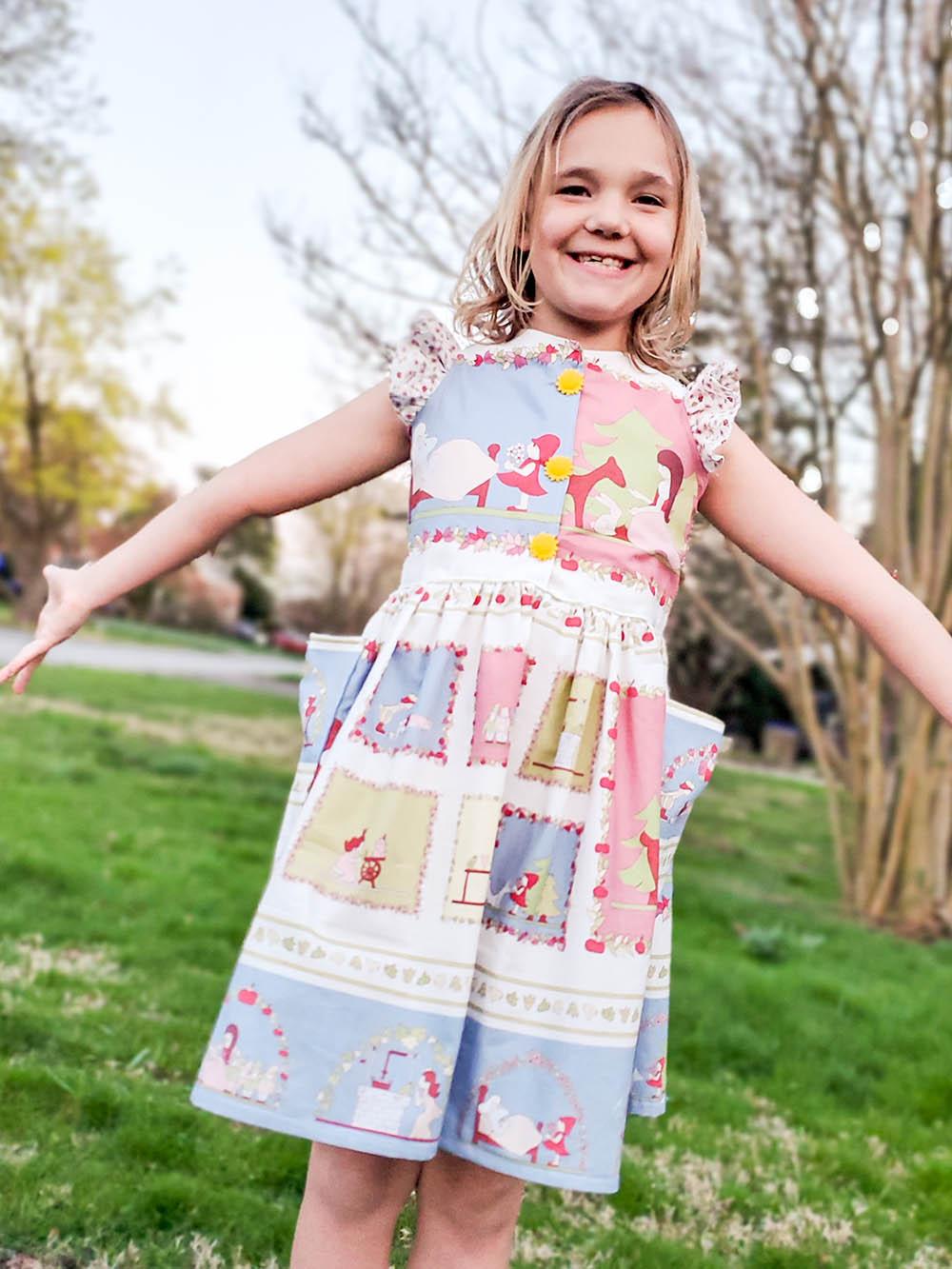 Grayson's Button Front School Girl Dress Sizes 2T to 14 Kids PDF Pattern