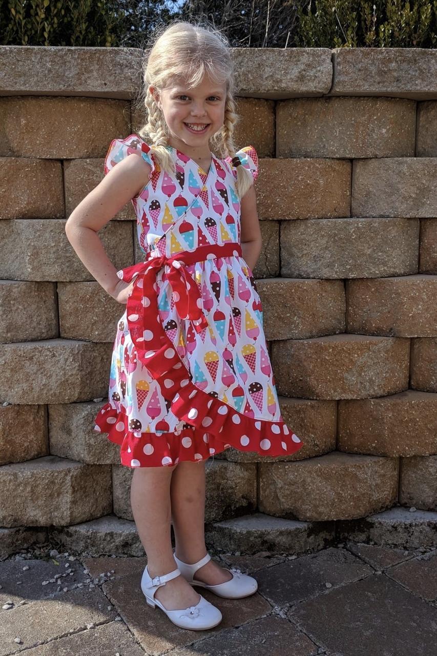 Melanie's Wrap Dress & Top Sizes 2T to 14 Kids PDF Pattern
