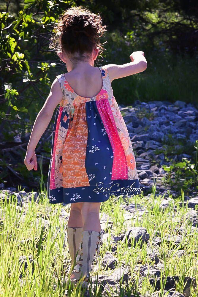 Samara's Stripwork Dress Sizes NB to 14 Kids PDF Pattern