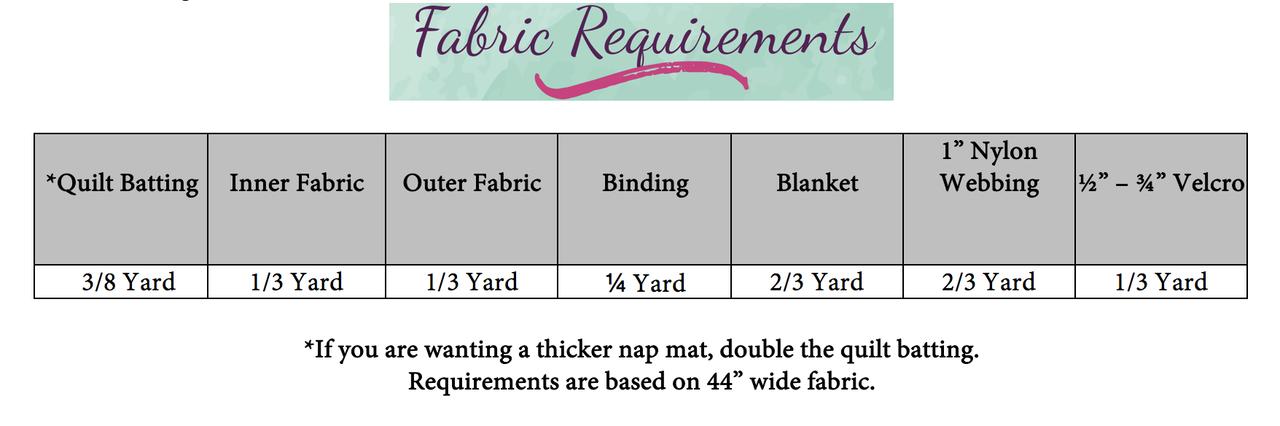 Dylan's Nap Mat Doll Sizes PDF Pattern