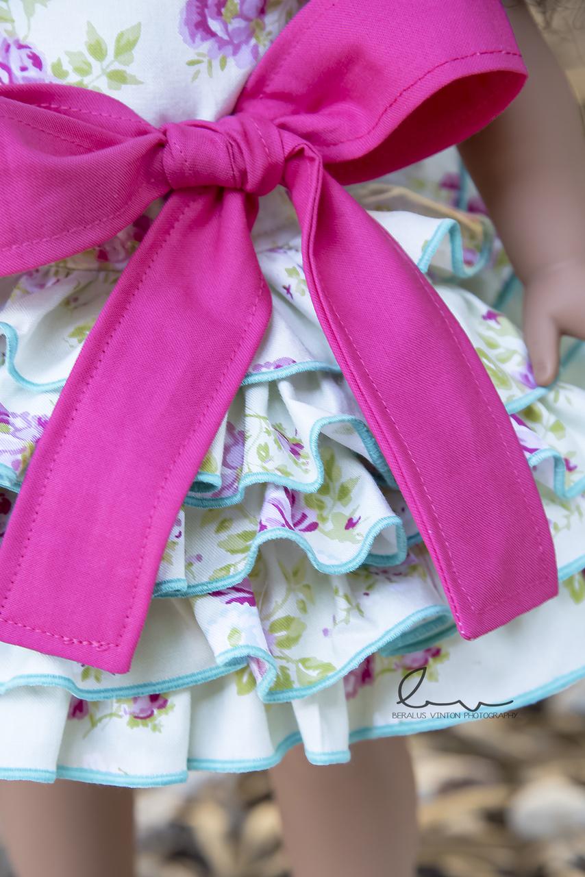 Francesca's Frilly Ruffle Dress Doll Sizes PDF Pattern