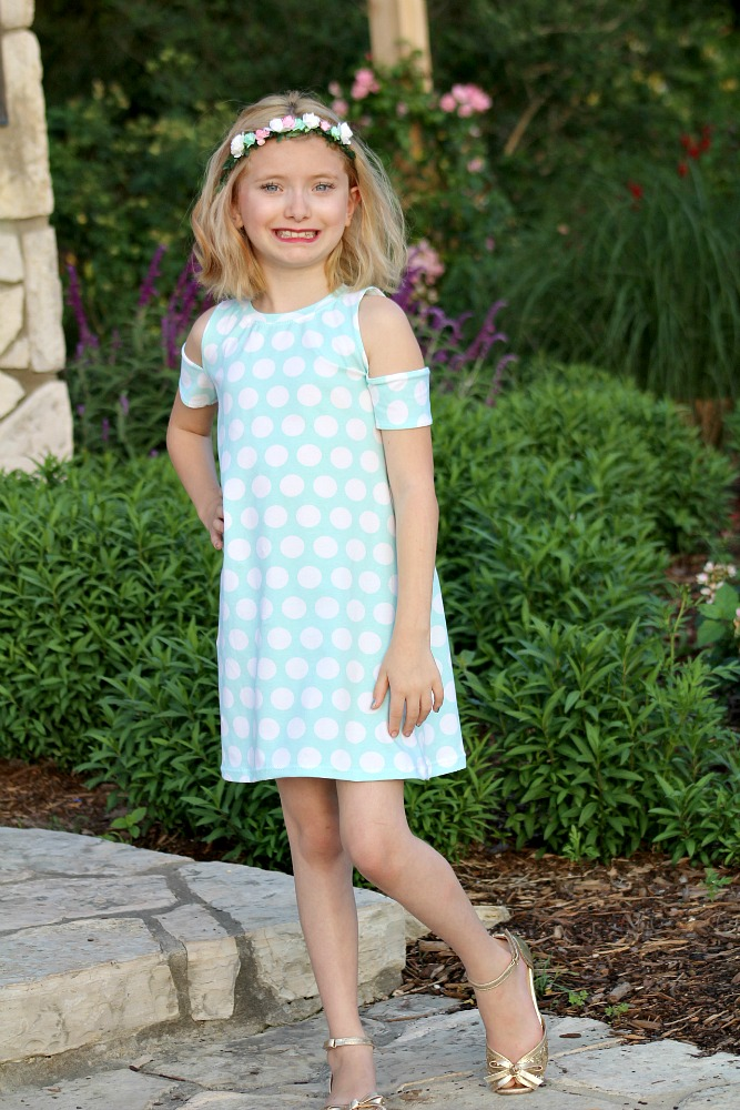 Monica's Cold Shoulder Top and Dress Sizes 2T to 14 Kids PDF Pattern
