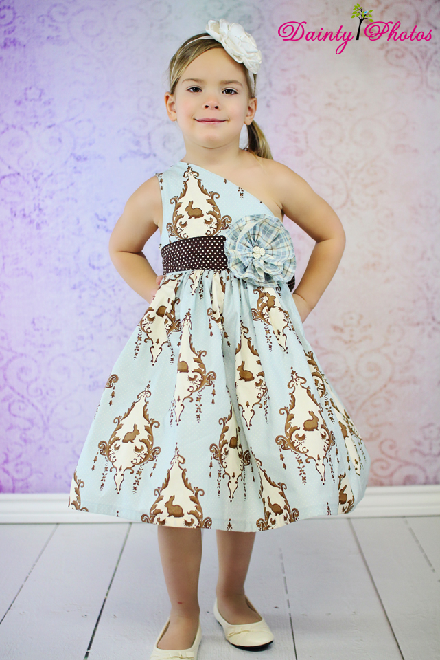 Paris' Party Dress Sizes NB to 15/16 Kids PDF Pattern