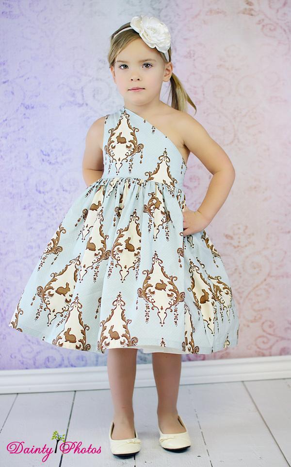 Paris' Party Dress Sizes NB to 15/16 Kids and Dolls PDF Pattern