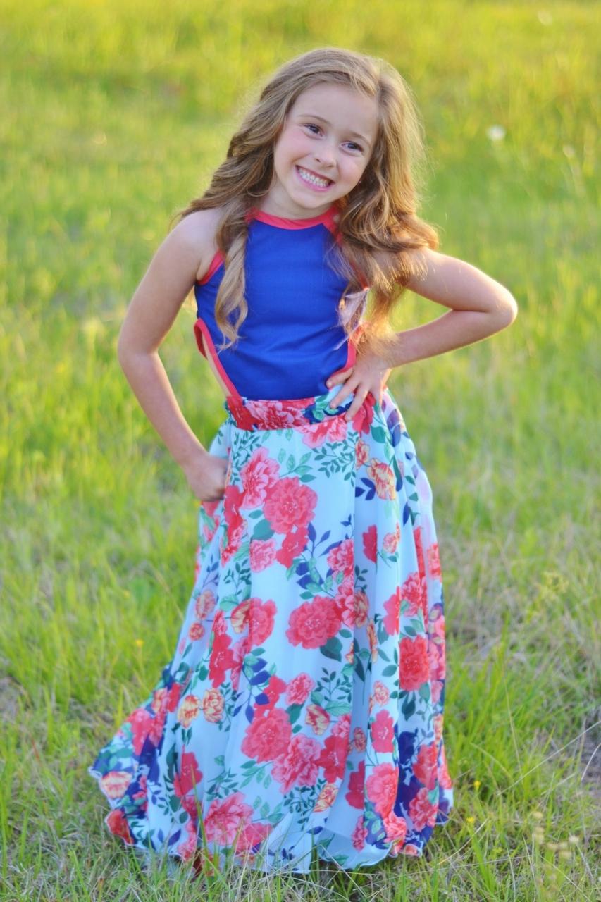 Beth's Beautiful Bias Maxi Sizes 2T to 14 Kids PDF Pattern