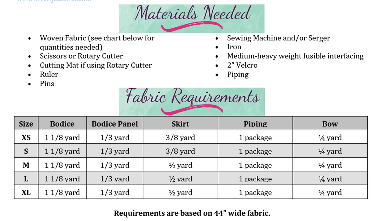 Azalea's Piped Panel Dress for Large Breed Dogs PDF Pattern