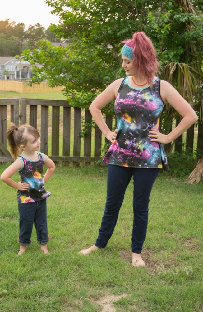 Davina's Racerback Tank Top, Dress, and Maxi Sizes 2T to 14 Kids PDF Pattern