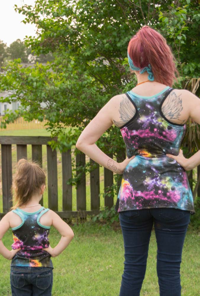 Davina's Racerback Tank Top, Dress, and Maxi Sizes 2T to 14 Kids PDF Pattern
