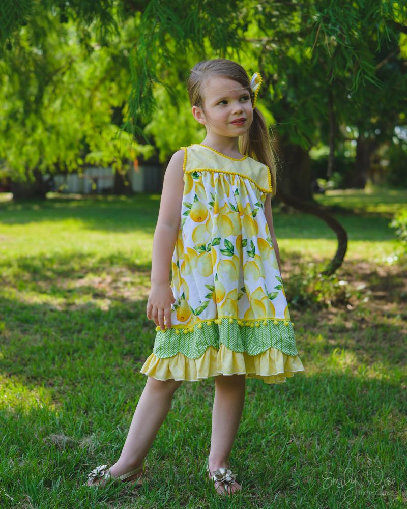 Mary's Vintage Dress & Top Sizes NB to 14 Kids PDF Pattern