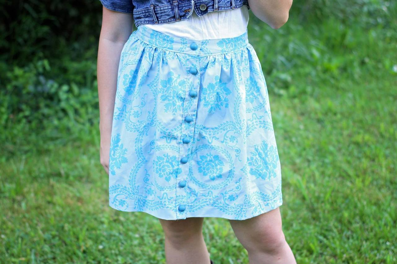 Bentlee's Button-Up Skirt Sizes XXS to 4X Adults PDF Pattern