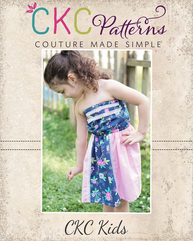 Topanga's Strapless Top and Dress Sizes 2T to 14 Kids PDF Pattern