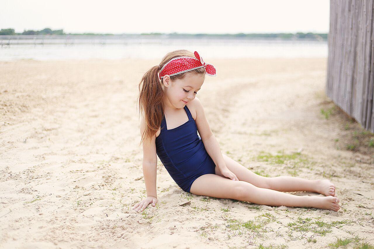 Ella's Retro Ruched Swimsuit Sizes NB to 14 Kids PDF Pattern