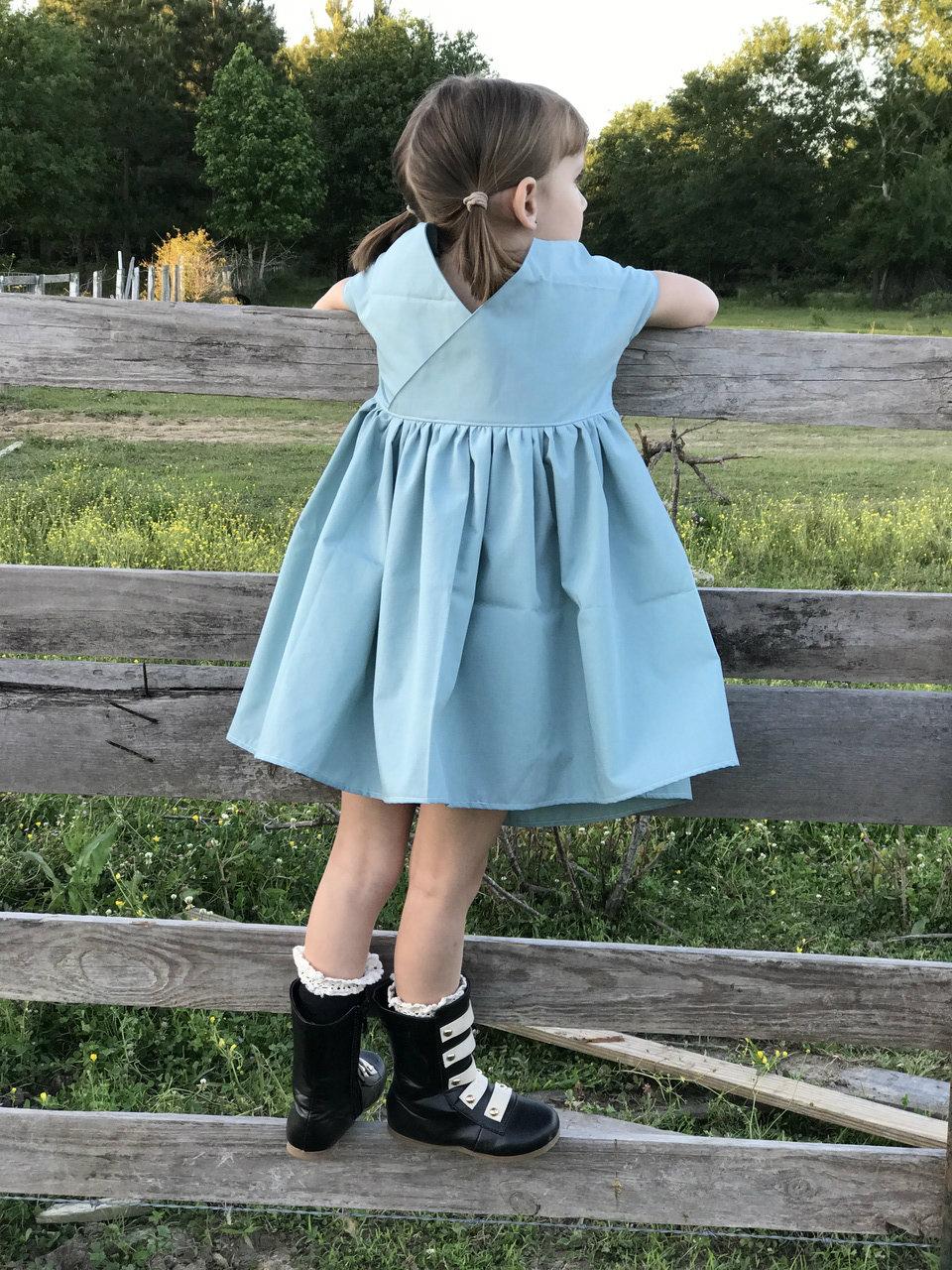 Gertrude's Gathering Apron & Dress Sizes 2T to 14 Kids PDF Pattern
