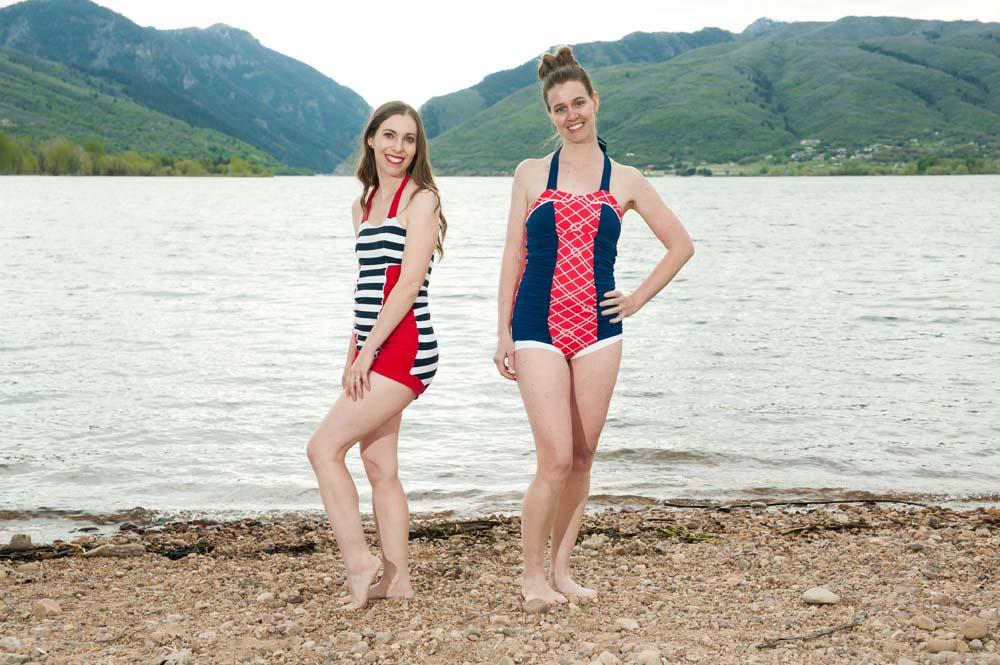 Ella's Retro Ruched Swimsuit Sizes XXS to 3X Adults PDF Pattern