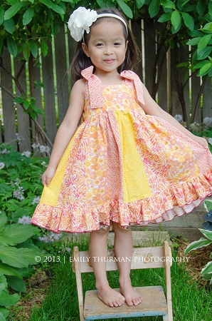 Phoebe's Stripwork Dress PDF Pattern