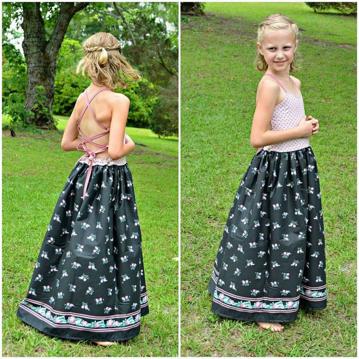 Honey's Tie-Back Dress, Maxi and Romper Sizes NB to 14 Kids and Dolls PDF Pattern