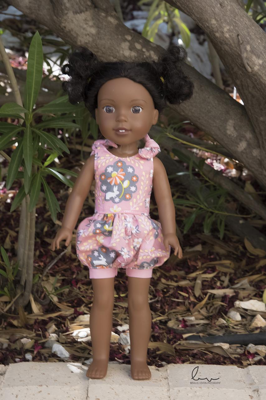 Abigail's Shoulder Tie Romper Doll sizes PDF Pattern