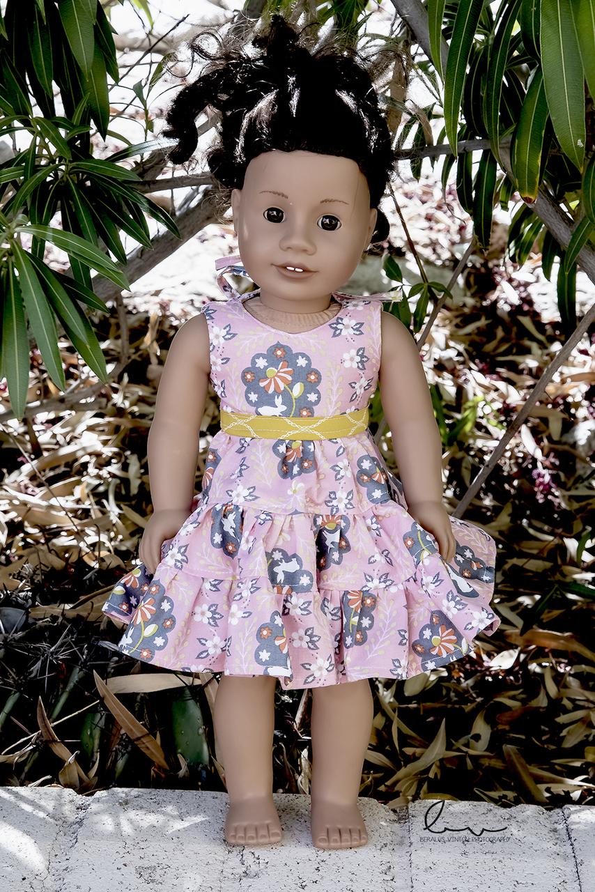 Doris' Tiered Party Dress Dolls Sizes PDF Pattern