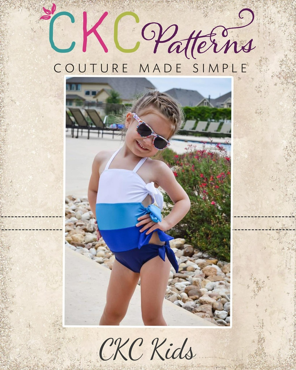 Twyla's Tied Swimsuit Sizes 2T to 14 Kids PDF Pattern