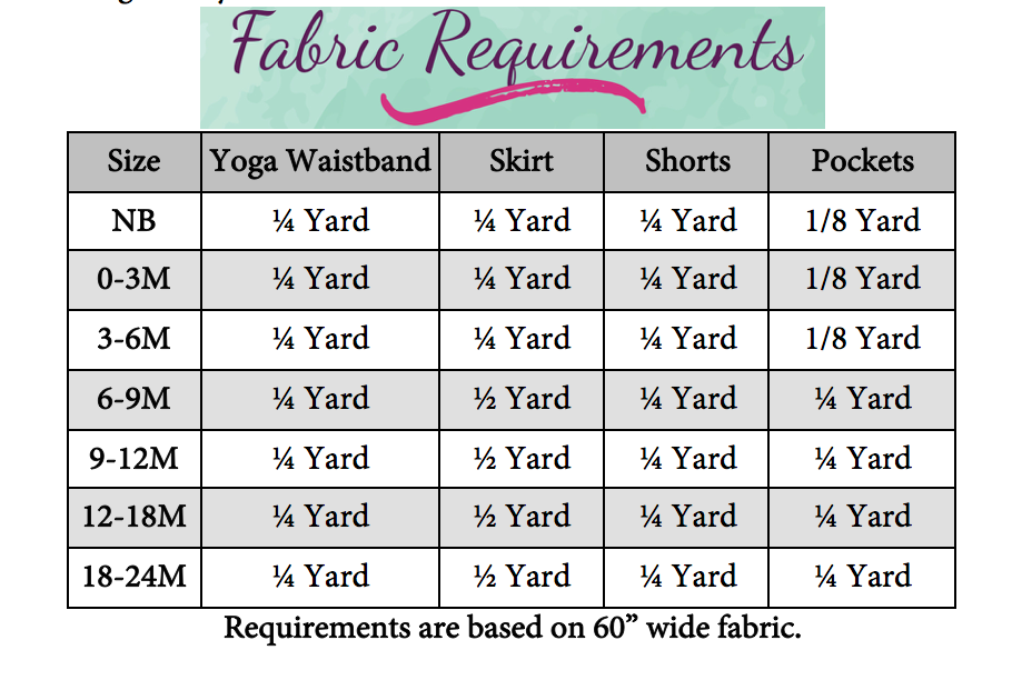 Percy's Knit Pocket Skort Sizes NB to 14 Kids PDF Pattern