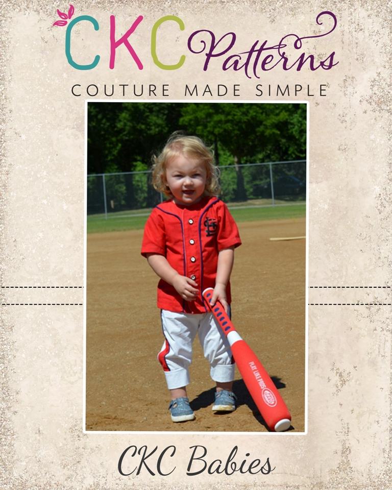 Upton's Babies Classic Baseball Top Sizes NB to 18/24m Babies PDF Pattern