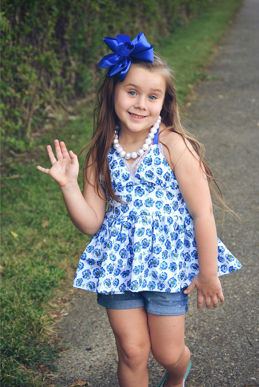 Briar's Beautiful Top, Dress, Maxi and Romper Sizes NB to 14 Kids and Dolls PDF Pattern