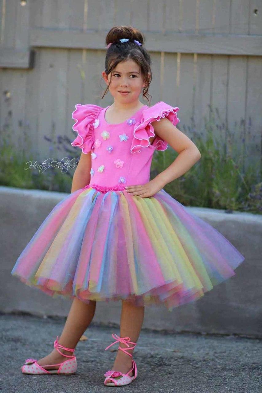 Coral's Fluffy Princess Dress Sizes 2T to 14 Kids PDF Pattern