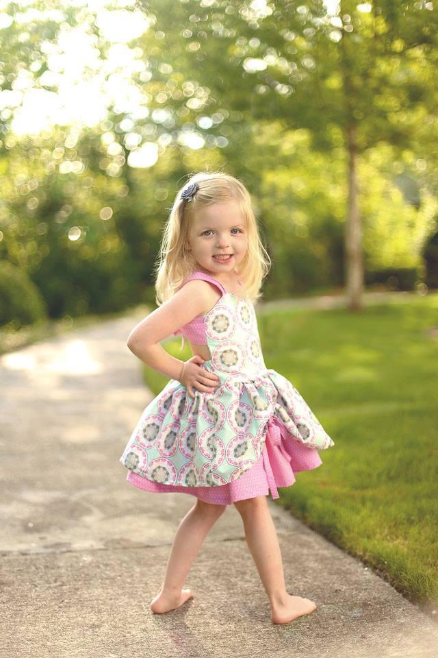 Poppy's Peekaboo Dress Sizes NB to 15/16 Kids and Dolls PDF Pattern