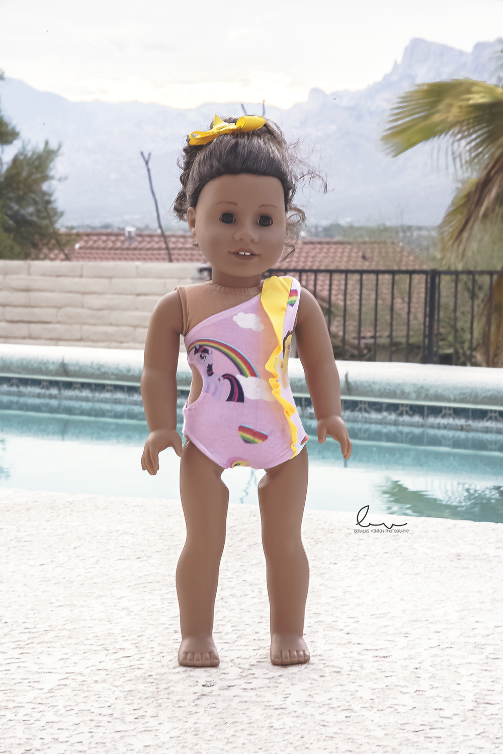 Yeal's Unique One Shoulder Swimsuit Sizes NB to 14 Kids and Dolls PDF Pattern