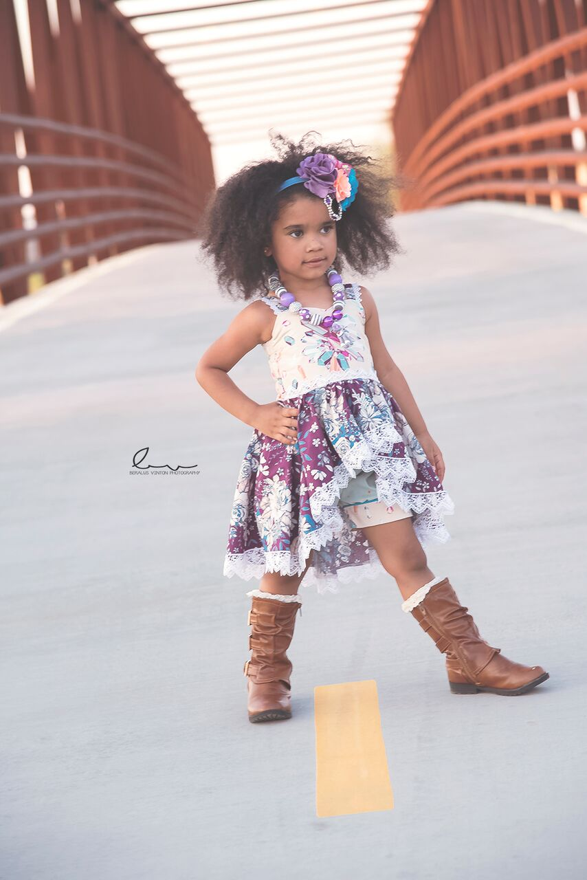 Adileen's Cascading Dress and Tunic Sizes 2T to 14 Kids and Dolls PDF Pattern
