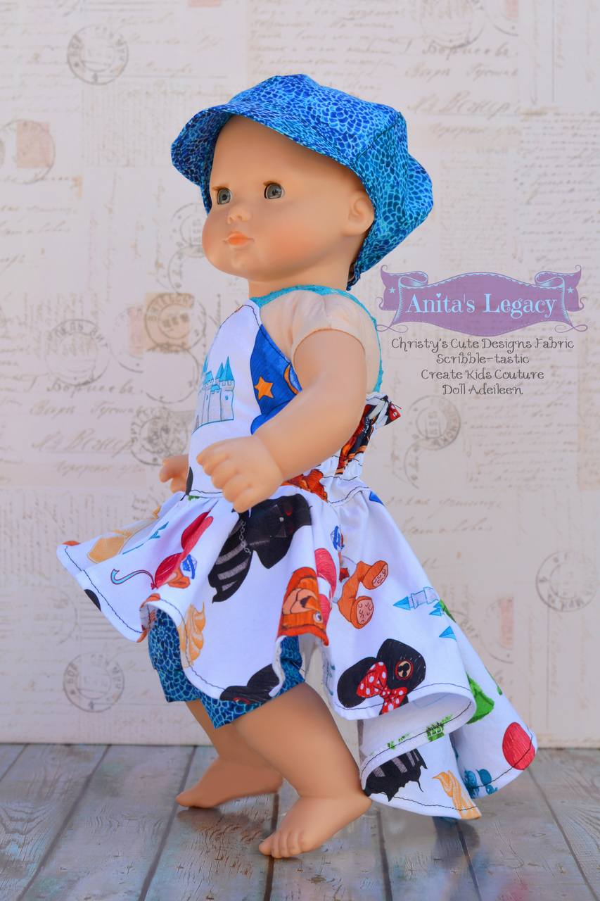 Adileen's Cascading Dress and Tunic Doll Sizes PDF Pattern