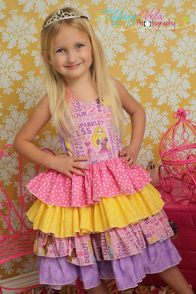 Primrose's Ruffled Corset Princess Dress Sizes NB to 15/16 Kids and Dolls PDF Pattern