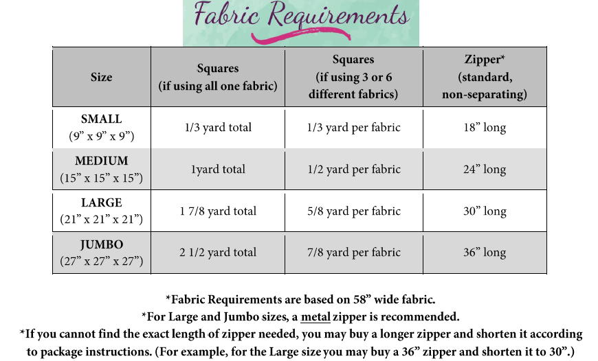 Caden's Storage Bean Bag PDF Pattern