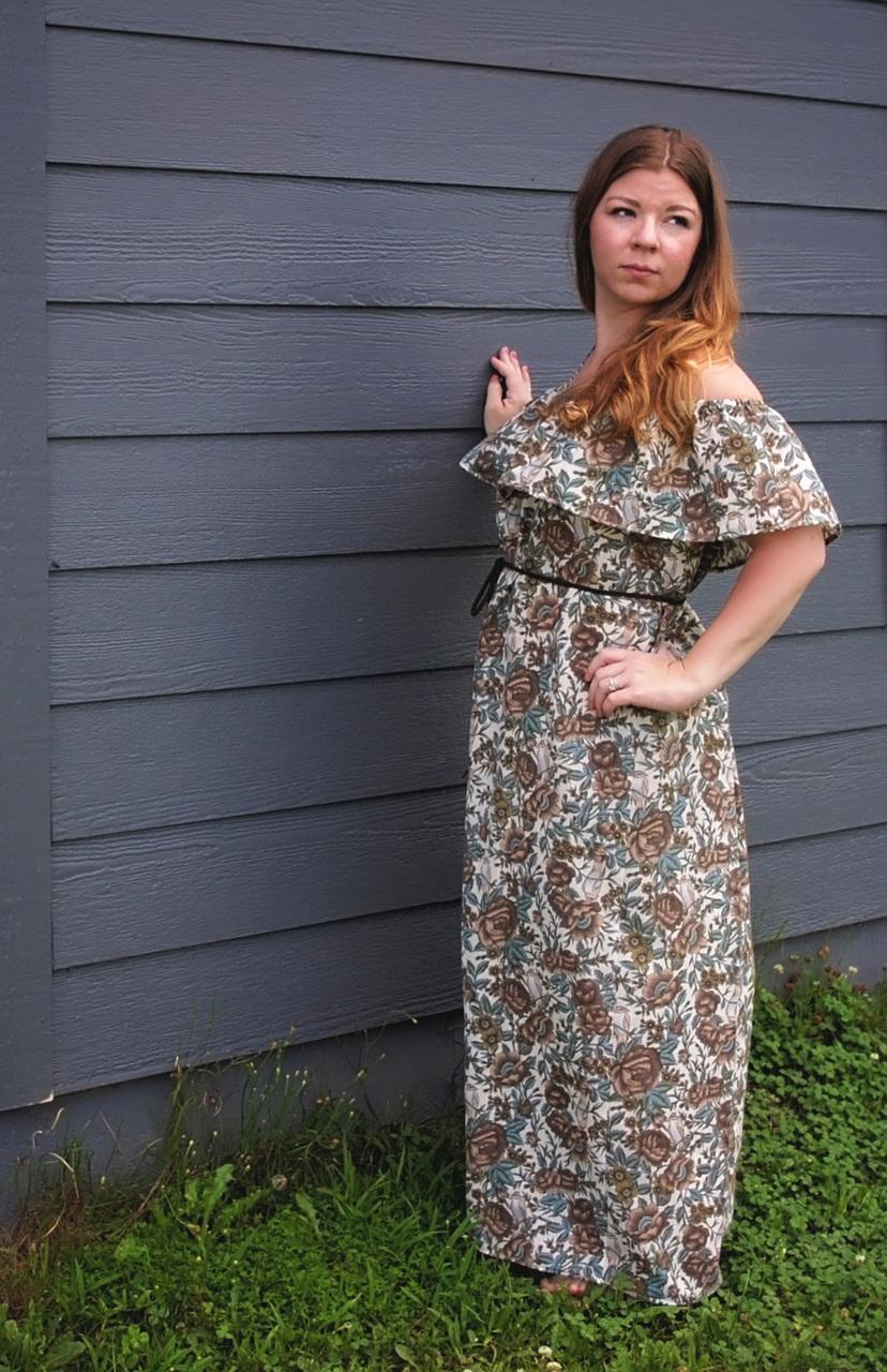 Marina's Ruffle Crop, Top, Dress and Maxi Sizes XXS to 3X Adults PDF Pattern