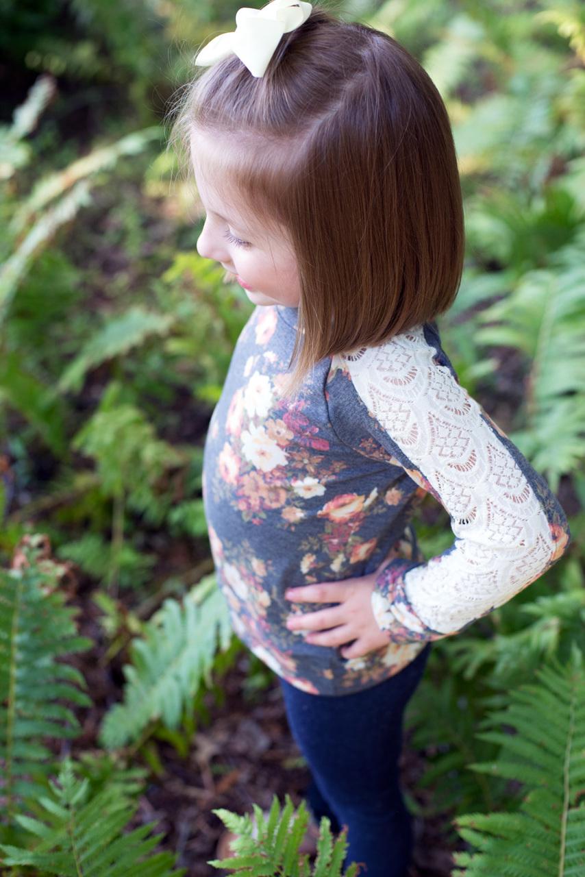 Laurel's Lace Raglan Sizes 2T to 14 Kids PDF Pattern