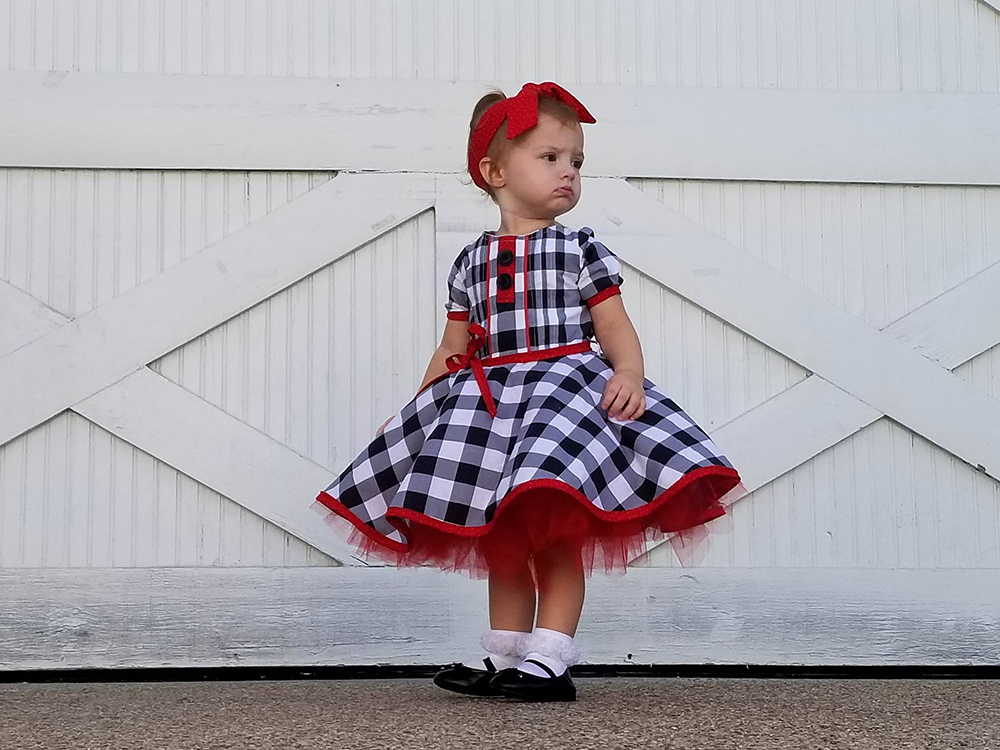 Berkley's Beautiful Pleated Top and Dress Sizes NB to 14 Kids PDF Pattern