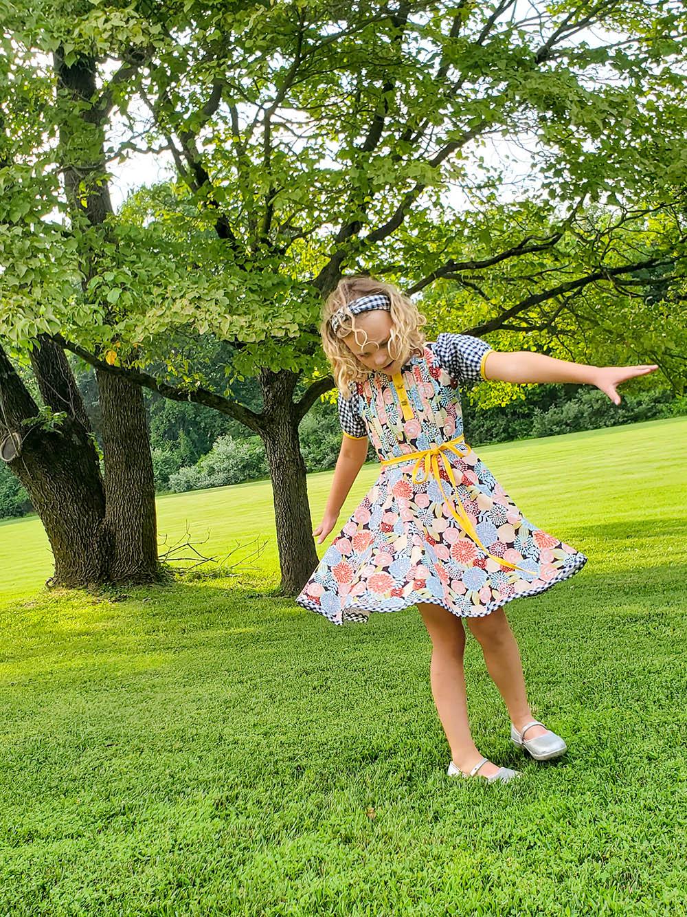 Berkley's Beautiful Pleated Top and Dress Sizes NB to 14 Kids PDF Pattern