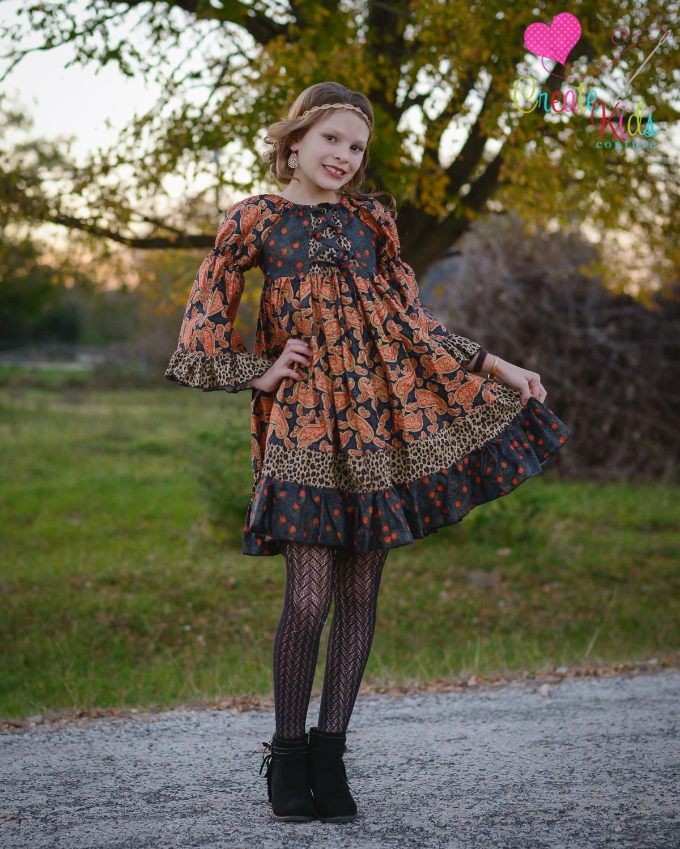 Rosanna's Corset Peasant Dress Sizes 6/12m to 15/16 Kids and Dolls PDF Pattern