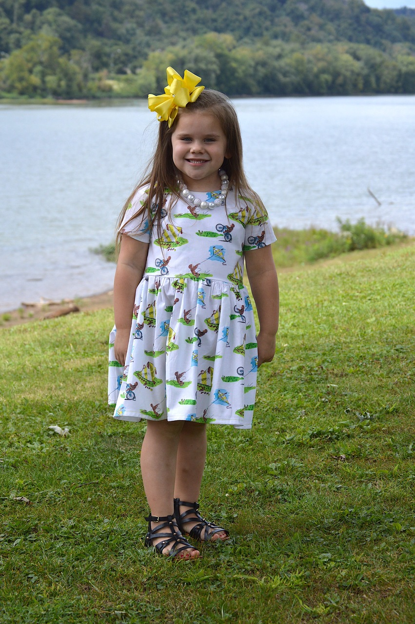 Marcella's Comfortable Top and Dress Sizes 2T to 14 Kids PDF Pattern