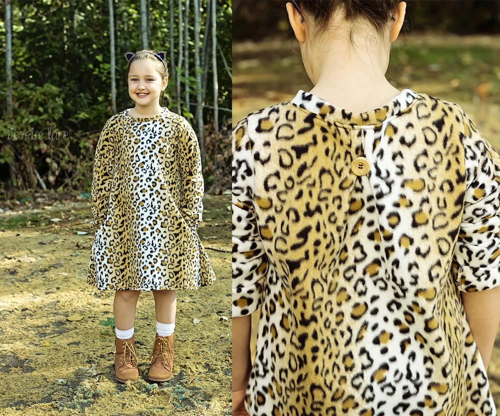 Carsyn's Fleece and Knit Back Pleat Dress Sizes 2T to 14 Kids PDF Pattern