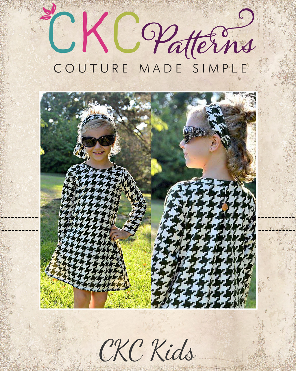 Carsyn's Fleece and Knit Back Pleat Dress Sizes 2T to 14 Kids PDF Pattern