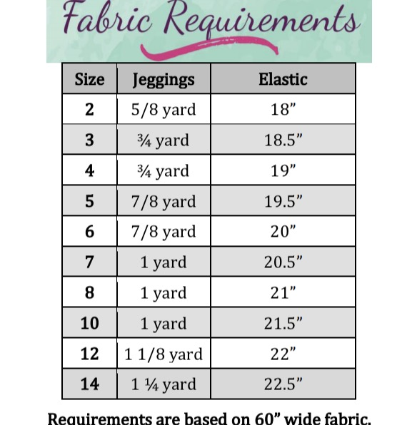 Jayda's Moto Leggings Sizes 2T to 14 Kids PDF Pattern