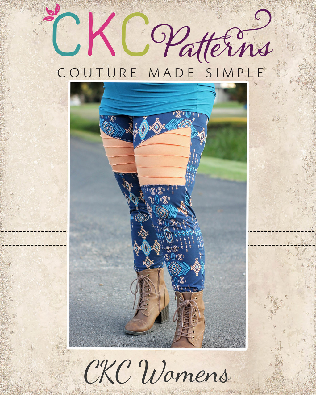 Jayda's Moto Leggings Sizes XXS to 3X Adults PDF Pattern