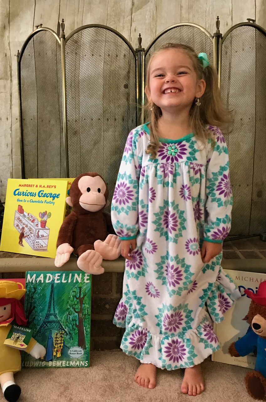 Aurora's Adorable Fleece Nightgown Sizes 2T to 14 Kids PDF Pattern